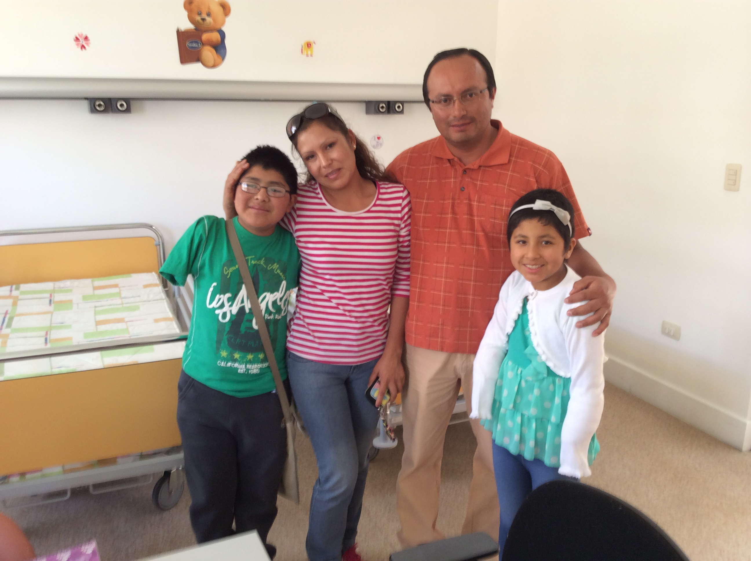 Thank you very much to the family Arnajan from Arequipa