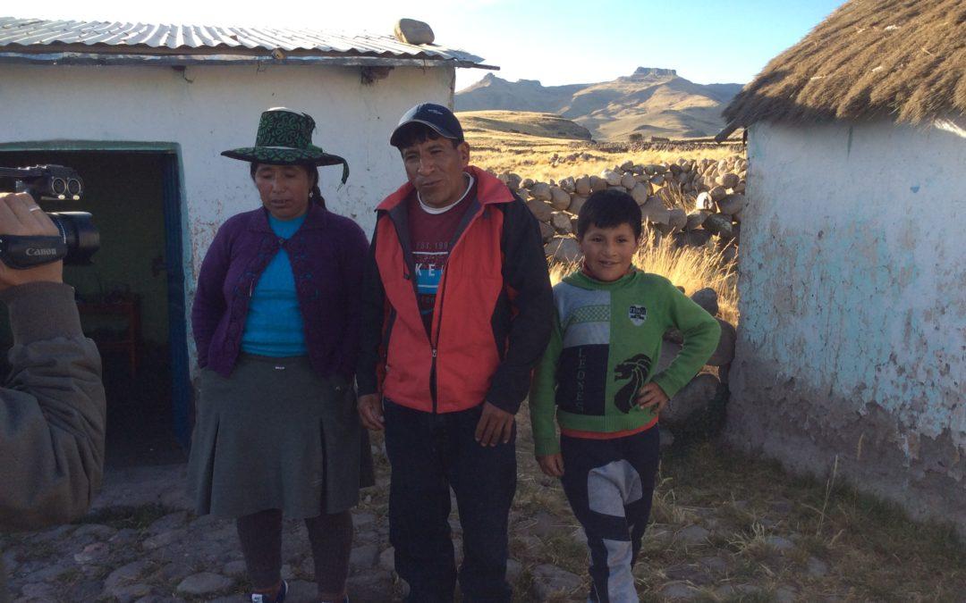 Op huisbezoek in Espinar (provincie Cusco)