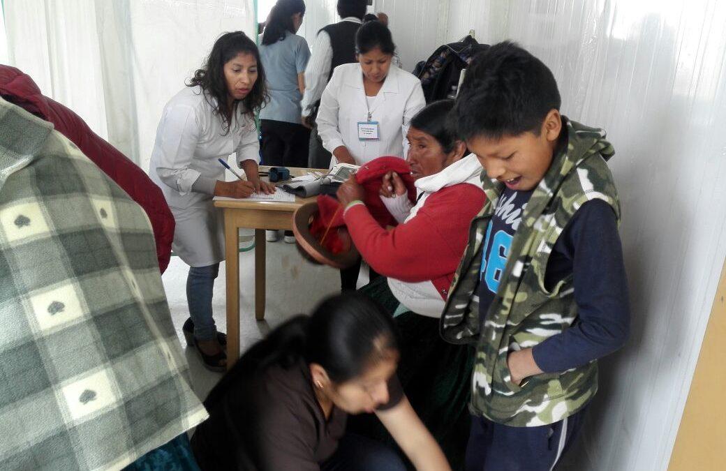 Medische campagne in San Juan de Tarucani