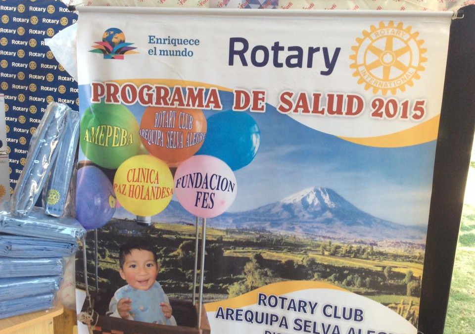 Donations of Rotary Club Selva Alegre and Yorba Linda (USA)