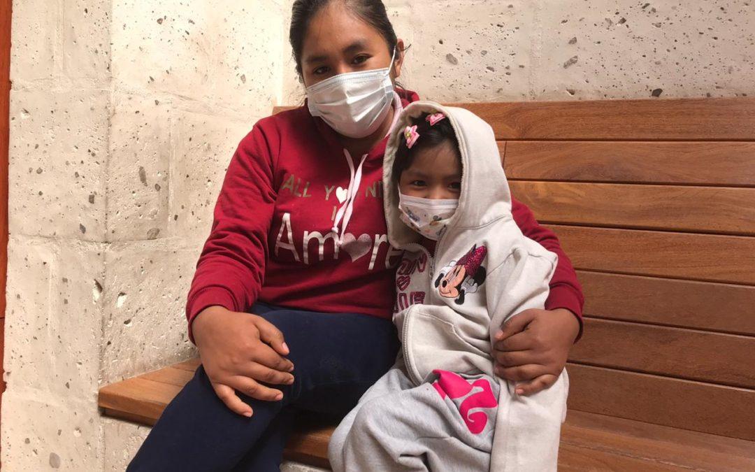 Lucero en haar moeder zijn dankbaar