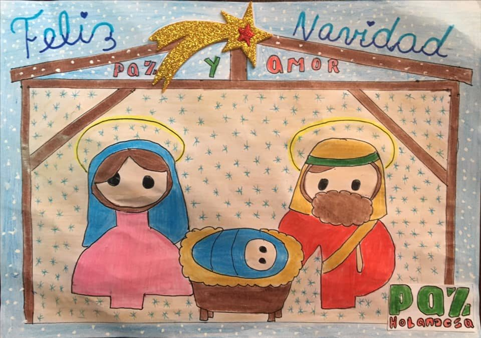 Mooie tekeningen van de kersttekenwedstrijd in Arequipa
